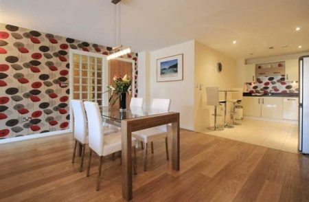 Dinning area in pet friendly serviced apartment